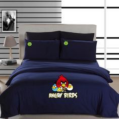 Angry Birds Navy Angry Birds Bedding Set