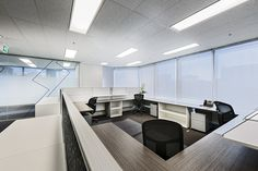 Open plan office area - Kyushu Electric, Perth, Western Australia