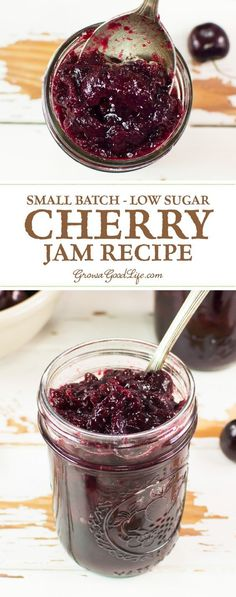 This small batch, sweet cherry jam will help you preserve sweet cherries before they are gone for the season. This chunky, low-sugar cherry jam is delicious slathered on toasted homemade bread, swirled in yogurt, or drizzled over ice cream.