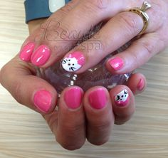 Organic Gel Manicure with Hello kitty design for Elsa by Annie!