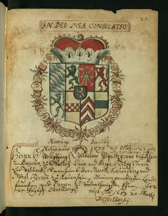 Liber amicorum of Joannes Carolus Erlenwein, Arms of Wolfgang Wilhelm, count palatine of Neuburg, Walters Manuscript