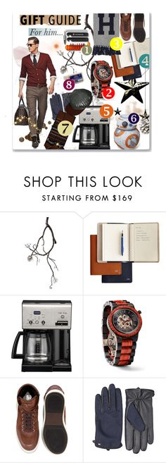 """""""Holiday Gift Guide For Him..."""" by bamaannie ❤ liked on Polyvore featuring Cuisinart, Knickerbocker, rustic, giftguide, bamaannie and giftideas"""