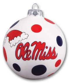 Ole Miss Rebels Holiday Ornament