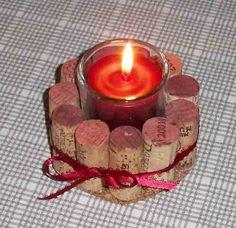 Set of 2 wine cork votive candle holders by Corkycrafts on Etsy