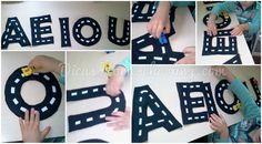 DICAS Homeschooling: Alfabetização Vogais Brinquedo Feltro Educação Inf...
