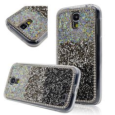 Seedan Black Grey Diamond Bling Case for Samsung Galaxy S4 SV I9500 Rhinestone Crystal Handmade Back Cover Glitter Shiny Protective Skin Cases. Compatible with Samsung Galaxy S4. Bling cover perfectly secure your device and easy access to all buttons, sensors, and ports. Full access to user interface, camera lens, headphone jack, speakerphone and microphone. Allows charging without removing the case. Form-fitting case designed to perfectly fit your Phone.