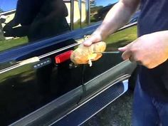 Ok, I came across this and it made me laugh. How To Unlock A Car Door With A Potato