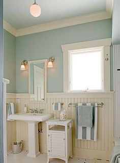 When your budget's not ready for a remodel, set your sights on smaller DIYs you can tackle yourself. Most Popular Small Bathroom Remodel Ideas on a Budget in 2018 Coastal Bathrooms, Beach Bathrooms, Small Bathroom, Downstairs Bathroom, Cream Bathroom, Seafoam Bathroom, Seaside Bathroom, Bathroom Colours, White Bathroom