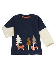 Forest Foxes Double Sleeve Tee