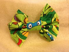 Turtle Bow by MischievousArtistry on Etsy
