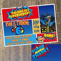 Superhero Invitation  Birthday Party  custom by DesignsbyCarrieLee, $7.00