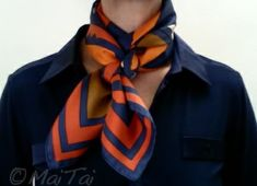 MaiTai's Picture Book: Weave knot with a 90 Carré weave knot square scarf