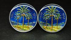 Iraq coin cufflinks date palms 20mm 22mm 23mm
