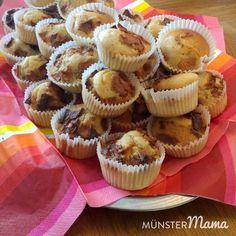 Apfelstrudel-Muffins für den Kindergarten, Ein einfaches Muffin Rezept, dass allen Kindern schmeckt und bei dem sie super backen können!