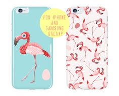 Pink Flamingos Phone Case Color Options iphone by BannerDesignShop
