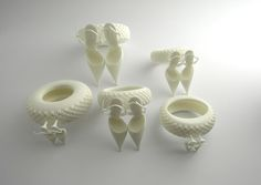 Ice Cream Girl rings by Ted Noten