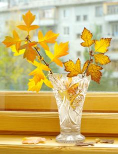 Display a bit of #FallFoliage in your home. #fall #leaves