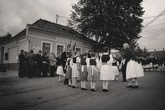 Folk dance by the children in the grape harvest parade in Somló, Hungary on September 20th 2008.
