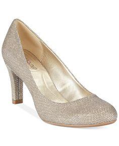 Bandolino Lantana Pumps - All Women's Shoes - Shoes - Macy's Gold Pumps, Gold Shoes, Mint Wedding Shoes, 30th Wedding Anniversary, Navy Bridesmaids, Pump Shoes, Women's Shoes, Me Too Shoes, Peep Toe
