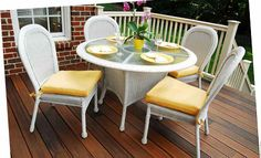 White Key West Dining set from South Sea Rattan.