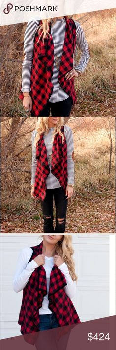 NEW ARRIVAL Buffalo Plaid sleeveless cardigan Super cute buffalo plaid cardigan/vest. Available in size Small(2-4) M(6-8) and large(10-12. Price is firm unless bundled 2 a T Boutique  Sweaters Cardigans
