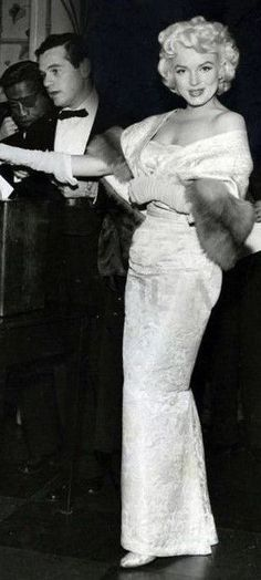 """Marilyn and Milton Greene at the premiere of """"East Of Eden"""" at the Astor Theatre in New York, March 9th 1955."""