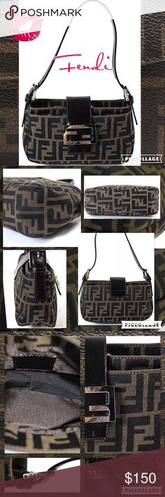 🎀 Authentic FENDI Baguette Bag! Beautiful authentic FENDI baguette in the signature classic monogram pattern. Great condition with no holes, rips or stains. The perfect addition to your designer bag collection! Comes from a smoke free home. 8'W X 6'H Fendi Bags Mini Bags