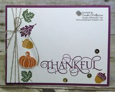 Just Sponge It: Stampin'Up! Only Thankful Card
