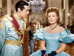 anna and the king of siam 1946 Rex Harrison and Irene Dunne wearing Joseff Hollywood Jewelry
