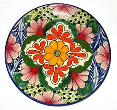 My goal is to come back from Mexico one day with a set of these beautiful plates!  #talavera #mexican #plates #kitchen