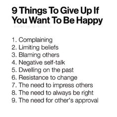 """27.6k Likes, 544 Comments - Tony Robbins (@tonyrobbins) on Instagram: """"9 things to give up if you want to be happy..."""""""