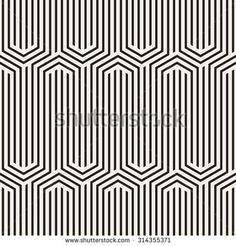 Vector seamless pattern. Modern stylish texture. Repeating geometric tiles. Striped hexagonal zigzag. Monochrome geometric background. Contemporary graphic design.