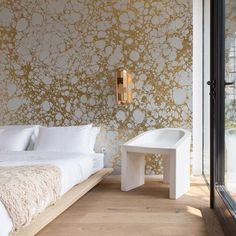 I love Calico wallpaper. It's quite bold though, not sure if we could include a feature wall of this somewhere (master bedroom or upstairs front room)