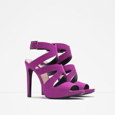 HIGH HEEL SANDALS WITH BUCKLE from Zara