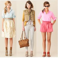 Women's Fashion Shorts Skirts Pants J.Crew Spring Summer 2011 Pictures