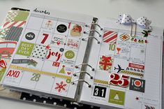 Holiday Carpe Diem planner set up from Layle Koncar