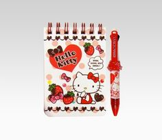 Hello Kitty Memo Pad With 2 Color Pen: Sweet  Item #52966  NEW  $13.00