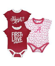 Take a look at this Crimson & Deep Pink Alabama Short-Sleeve Bodysuit Set - Infant by Knights Apparel on #zulily today! http://www.zulily.com/invite/kcrim608