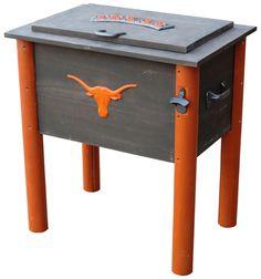 Texas Longhorns Collegiate Cooler on BourbonandBoots.com #texas #longhorns #tailgate
