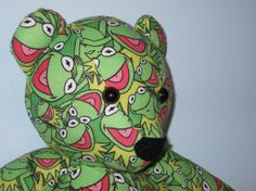 Kermit Frog Teddy Bear Cuddle Buddy Green Goodness Child by DoOver