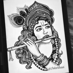 Art Drawings Beautiful, Art Drawings Sketches Simple, Dark Art Drawings, Easy Drawings, Mandala Art Lesson, Mandala Artwork, Mandala Painting, Doodle Art Drawing, Mandala Drawing