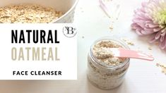 One of the most effective gentle natural face cleansers is a so-called colloidal oatmeal. Cleanser For Sensitive Skin, Natural Face Cleanser, Natural Skin Care, Natural Recipe, Natural Beauty Recipes, Natural Makeup Remover, Olie, Facial Care, Cleansers