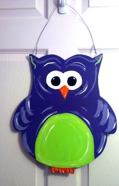 Fall Owl Wood Door Hanger or Sign - Perfect for Halloween or Fall!