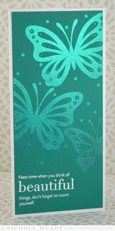 Beautiful Things Card by Nichole Heady for Papertrey Ink (May 2014)