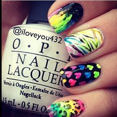 d563af95a6b  nails  art  awesome  bright  cool Swag Nails