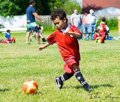 Action pre-k soccer photo