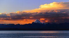 Mt Kailash  overlooking the Lake Manasarovar