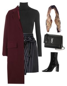 """""""Sans titre #2693"""" by frenchystyle ❤ liked on Polyvore featuring Wolford, Loveless, Joseph and Yves Saint Laurent"""