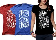 create typography and teespring Tshirt design