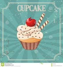 vintage cupcakes illustration - Google zoeken